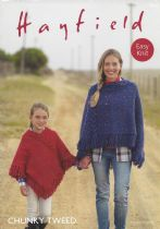Hayfield Chunky Tweed Knitting Pattern - 7812  Ponchos